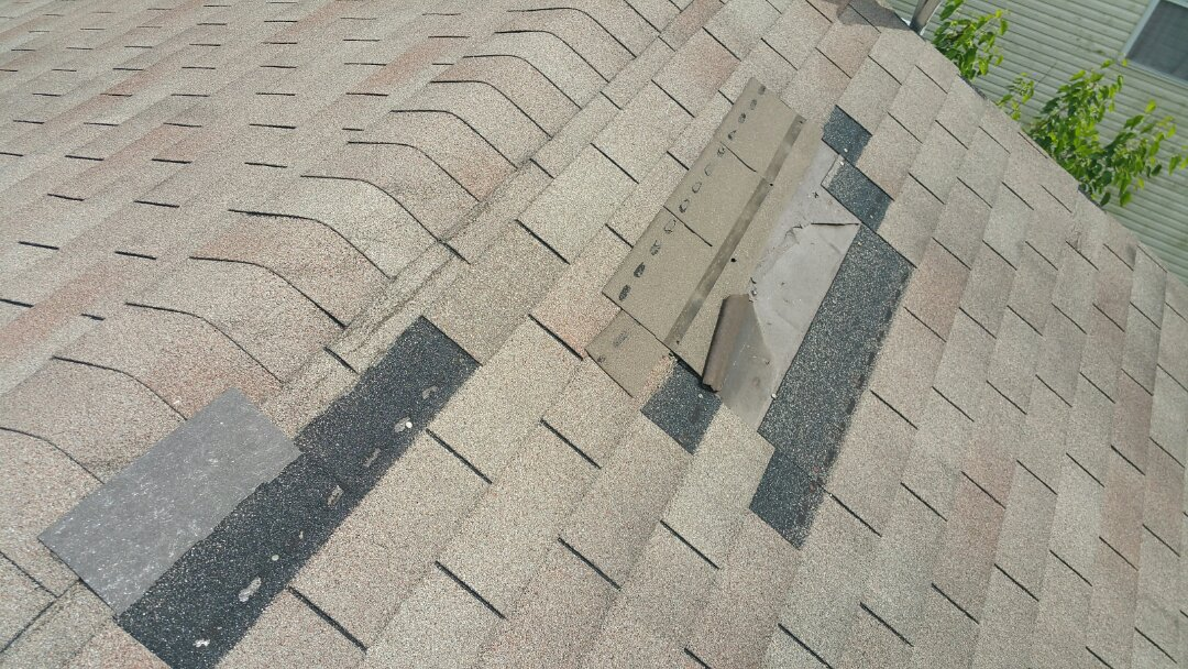 Pataskala, OH - Excessive wind damage on this roof replacement inspection in Pataskala.