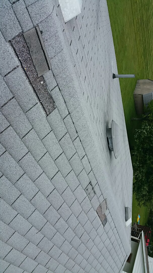 Ontario, OH - Wind damage roofing inspection. Roof will require full replacement.