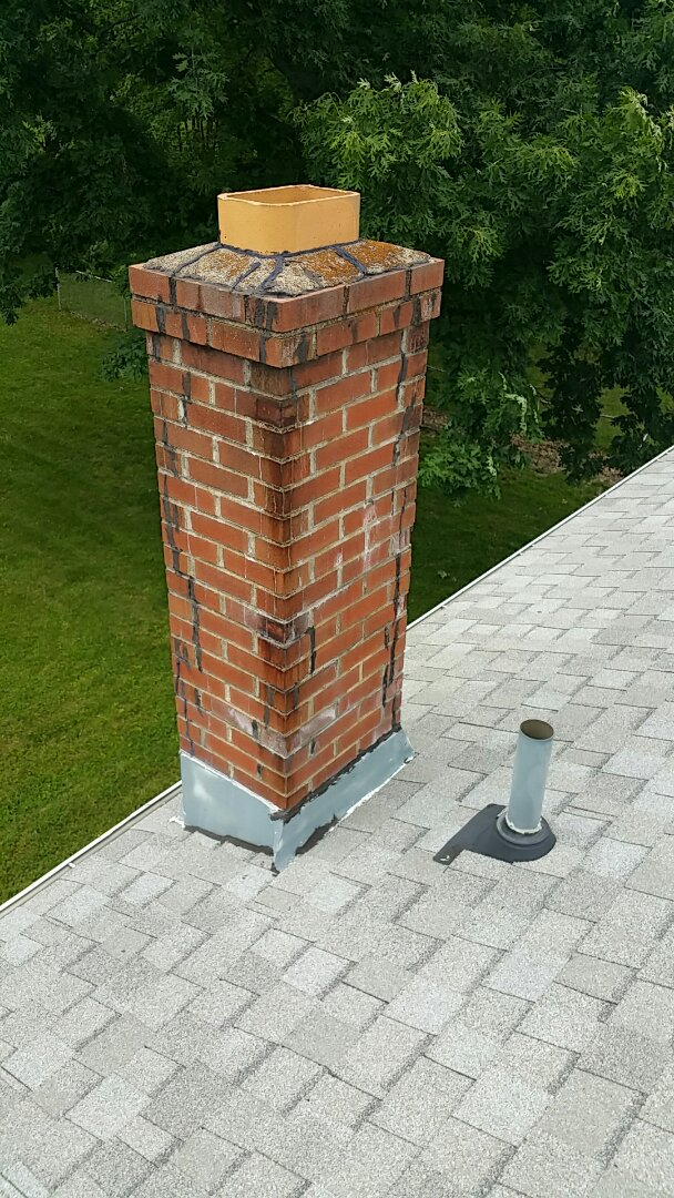 Ontario, OH - Roof and chimney inspection for leaking.