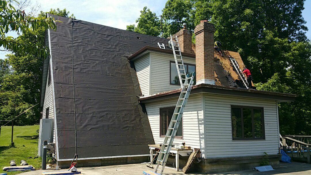 Alexandria, OH - Roof replacement due to wind damage, paid for by the insurance company.