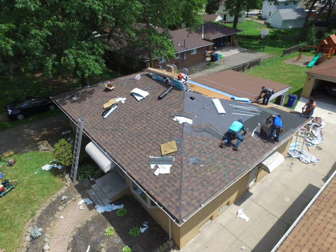 Cleveland, OH - Roofing replacement due to wind damage.