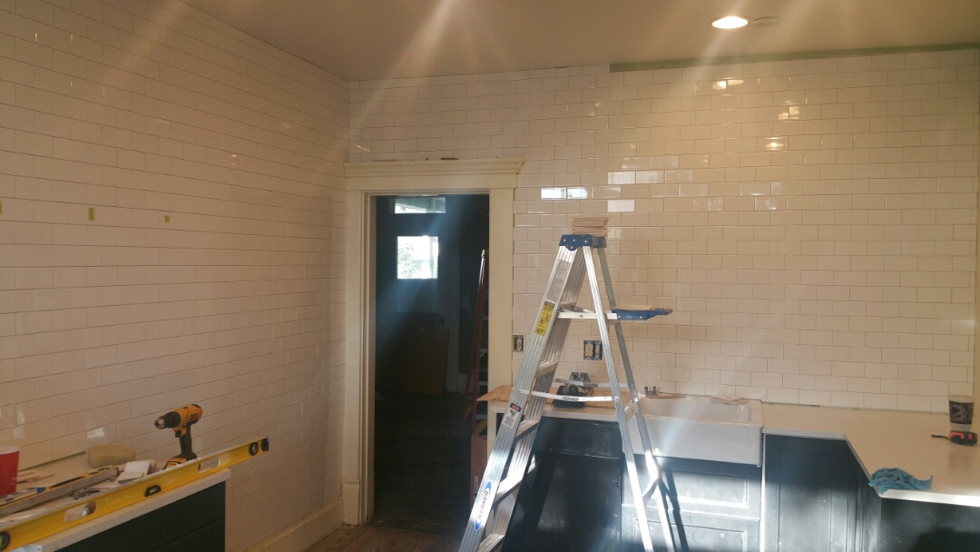 Columbus, OH - FHA 203k subway tile going in!
