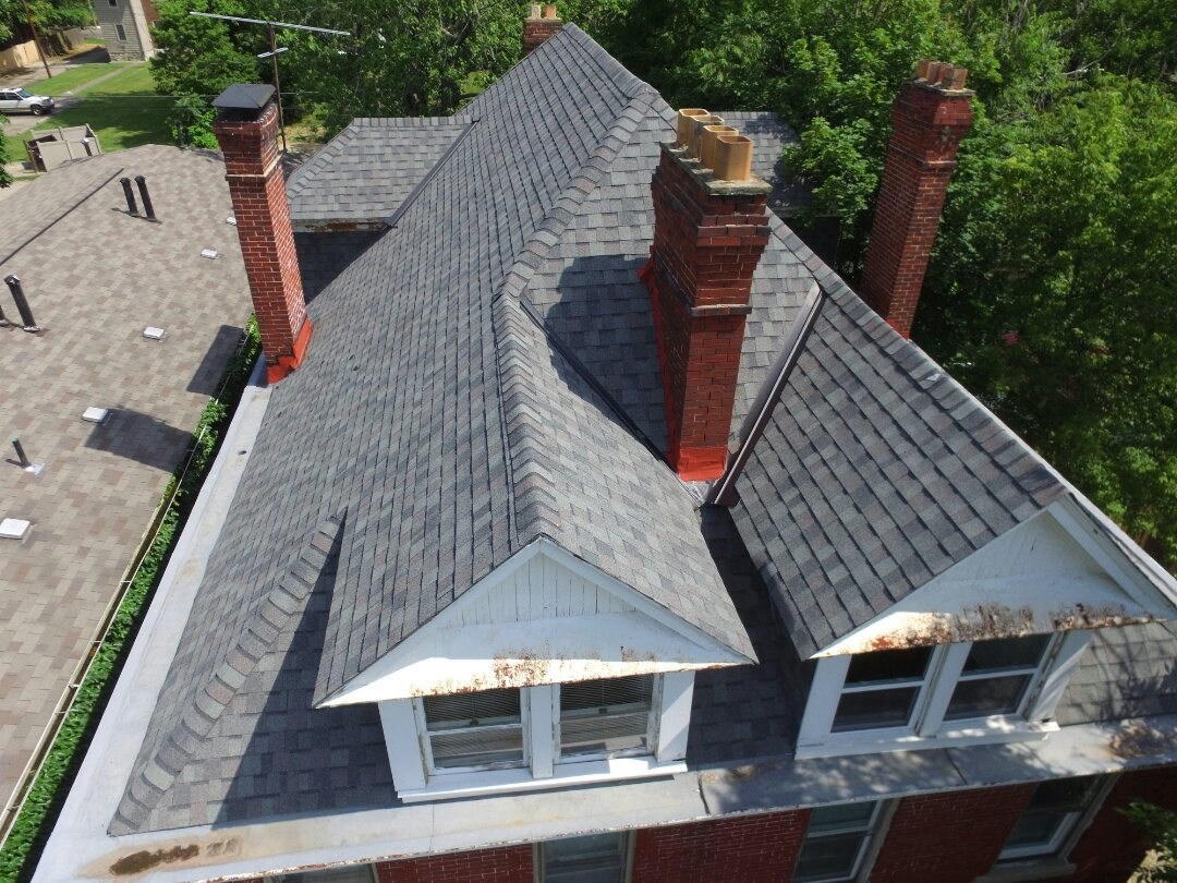 Columbus, OH - Chimney inspection for new tuck pointing and cap work.