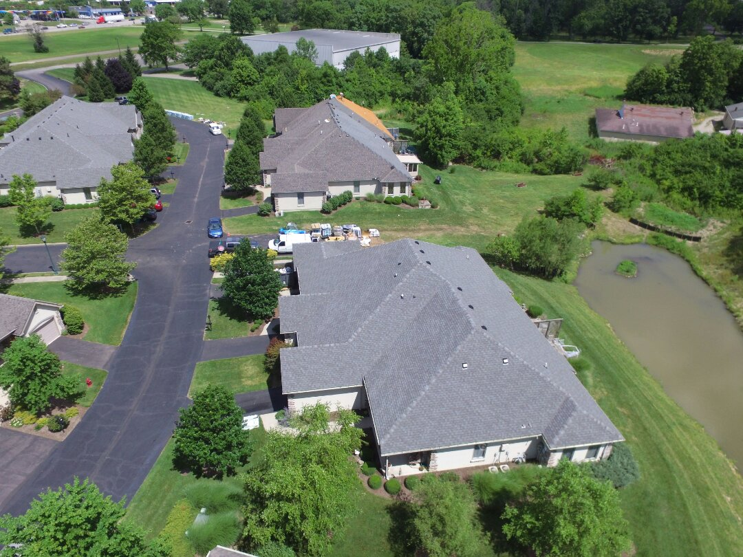 Springdale, OH - Two buildings complete and two more in progress on this commercial roofing project in Cincinnati!