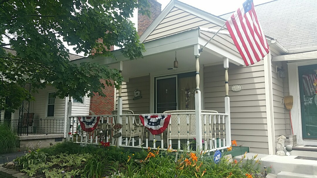 Columbus, OH - Porch carpentry work completed in preparing for a new Matterhorn Metal Roofing System.