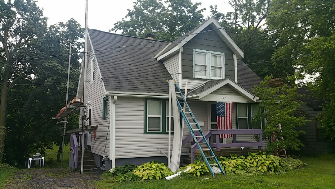 Westerville, OH - Full siding replacement nearly complete on this Westerville wind damage insurance claim!