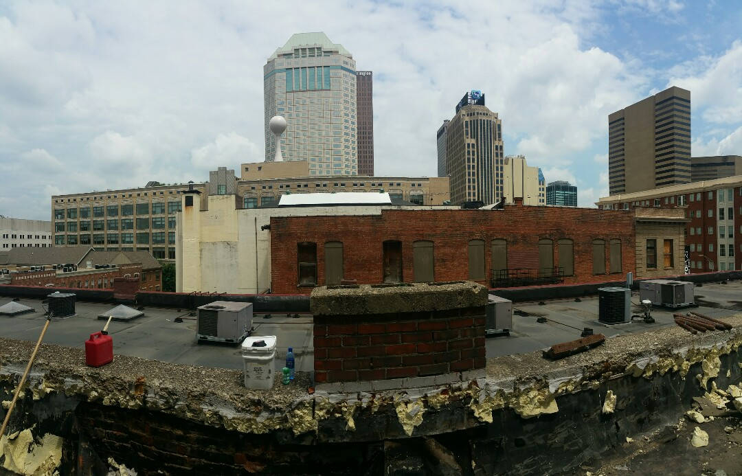 Columbus, OH - A GREAT view today from this commercial roof replacement in downtown Columbus!