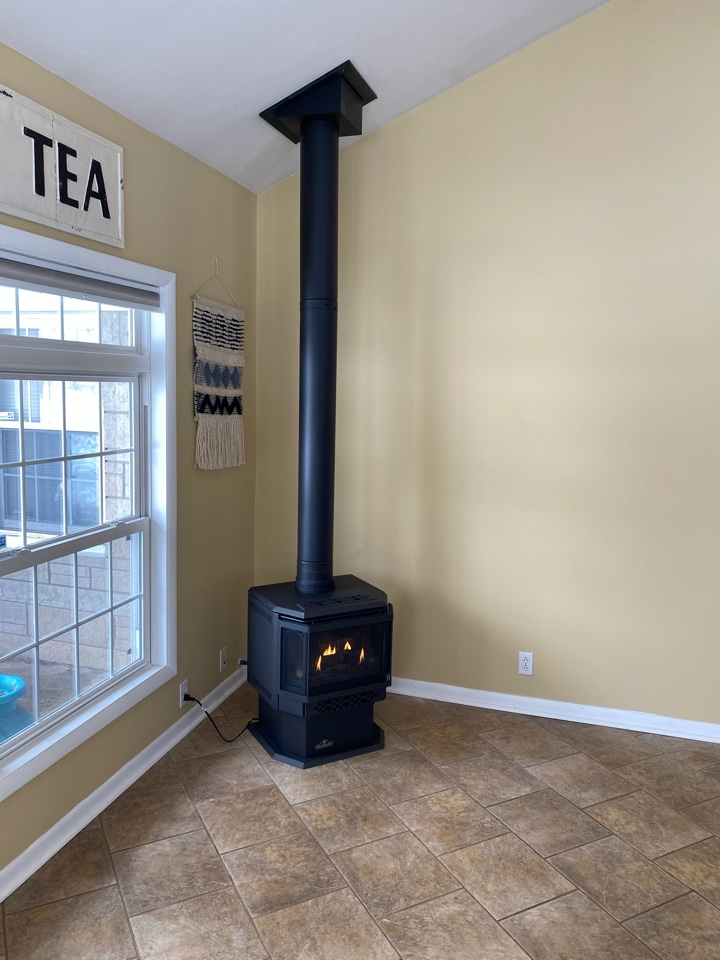 North Webster, IN - Installed New Napoleon Haliburton gas stove.