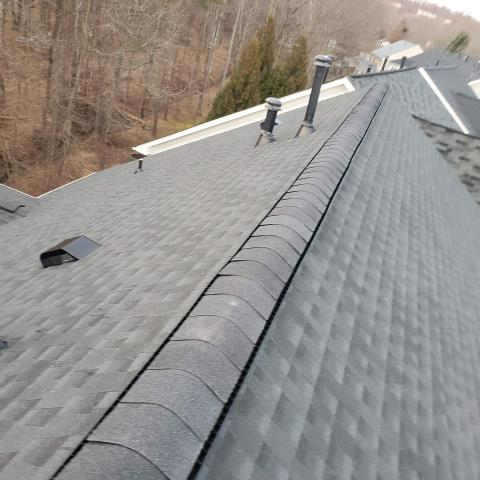 Alexandria, VA - New asphalt roof install with architectural asphalt shingle roof.