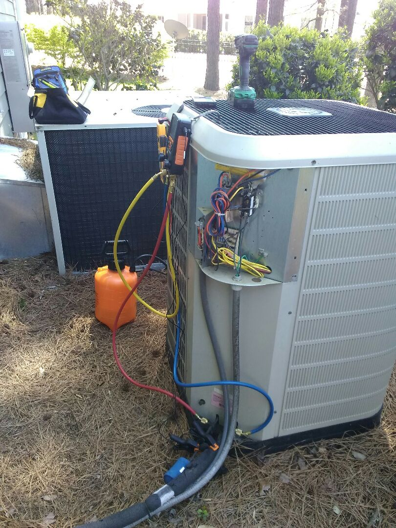 Apex, NC - AC maintenance call. Performed AC tune up on Heat Pump and Gas systems
