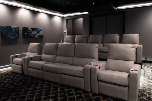 Houston, TX - Interior picture of the home theater we installed.