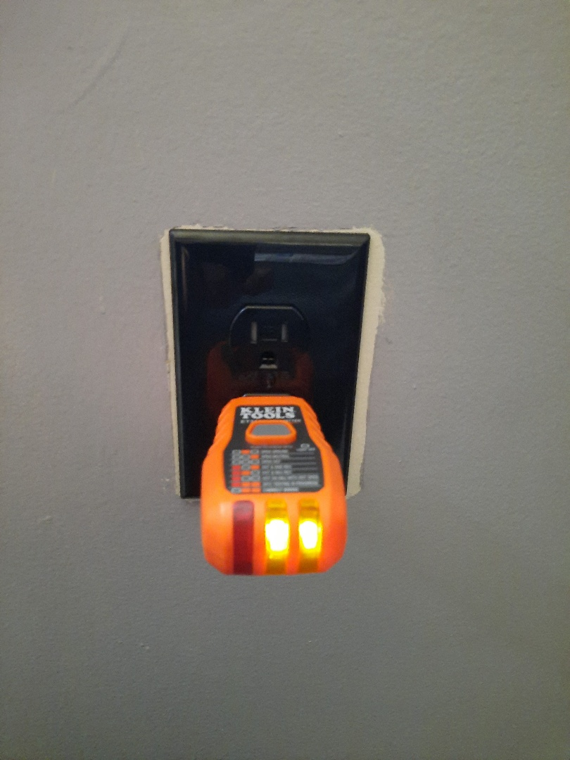 Crofton, MD - Rewired receptacle for operation from light switch. Crofton, MD