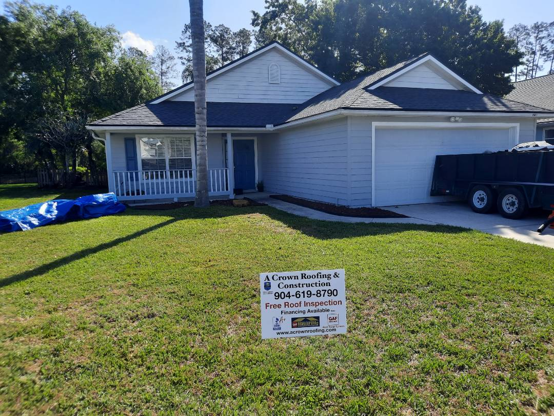 Orange Park, FL - Helped another customer with a GAF Timberline HDZ unlimited wind rating shingle with 50 year Golden pledge transferable warranty here in Eagle Harbor in Fleming Island, FL  Call Cullen Still at (808) 341-5646 and visit our web page at www.ACrownRoofing.com