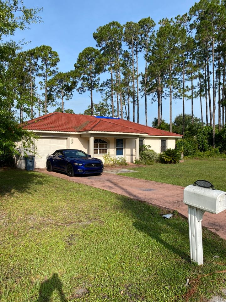 Palm Coast, FL - In Palm Coast meeting insurance adjuster and engineer for a tile roof damage claim    We walk you through the insurance process.  If you think you have storm damage call us for a free inspection.  Call Jon for roof, windows, paint siding gutters or any other home improvement projects 904-349-8082.