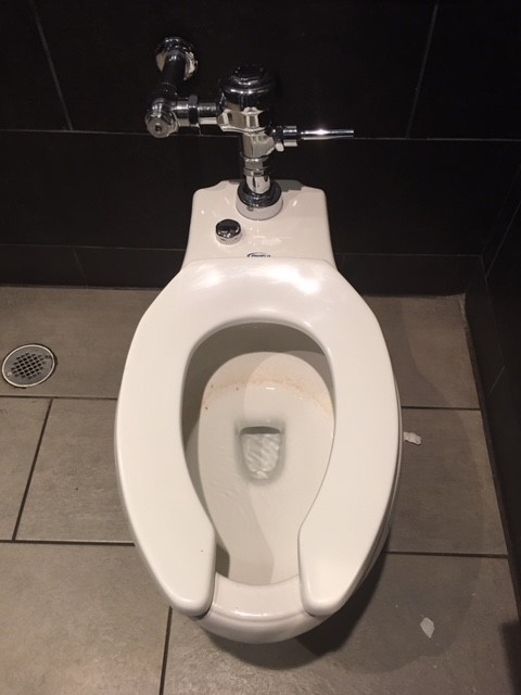 Tyler, TX - Clearing toilet drain at local commercial facility in Tyler TX