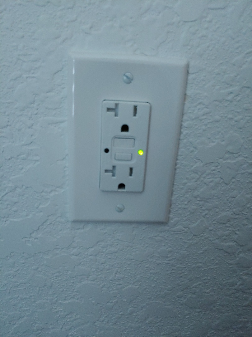 Replaced damaged outlet