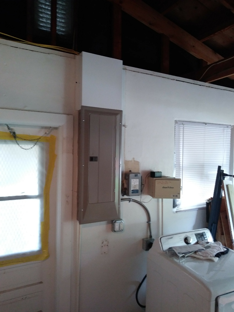 install new 32 space electrical panel and grounding system and surge protection