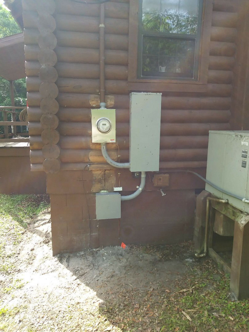 We have replaced and raised up out of the floodplain the two hundred amp outdoor electrical panel and updated the grounding system