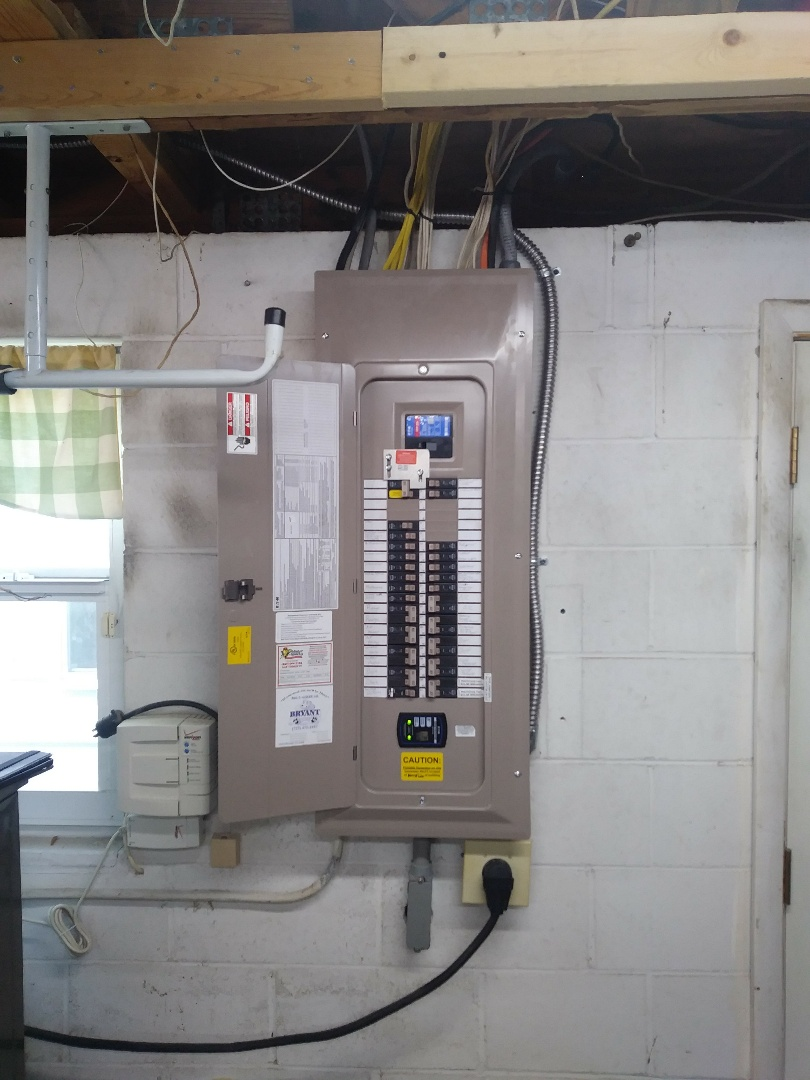 Today we have replaced a 200-amp main panel and installed a 50 amp generator Inlet with interlock kit.