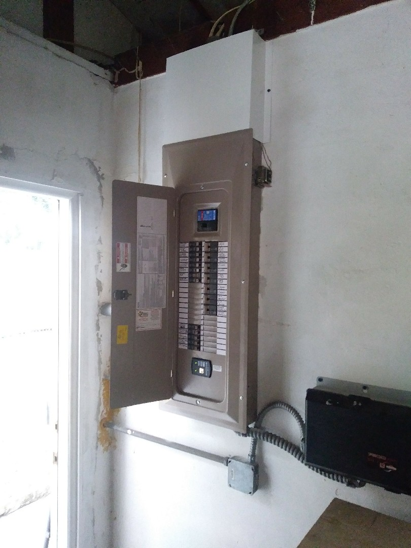 Today I have replaced a 200 amp 42 space indoor electrical panel and add surge protection