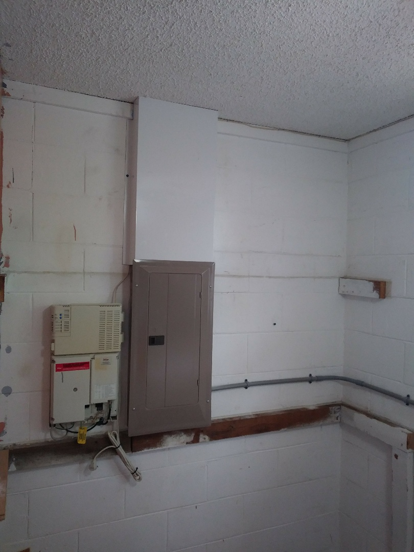 Today I have replaced a 125 amp electrical panel and ran a new dryer circuit if new outlet and dryer cord. Also we have installed an updated running system
