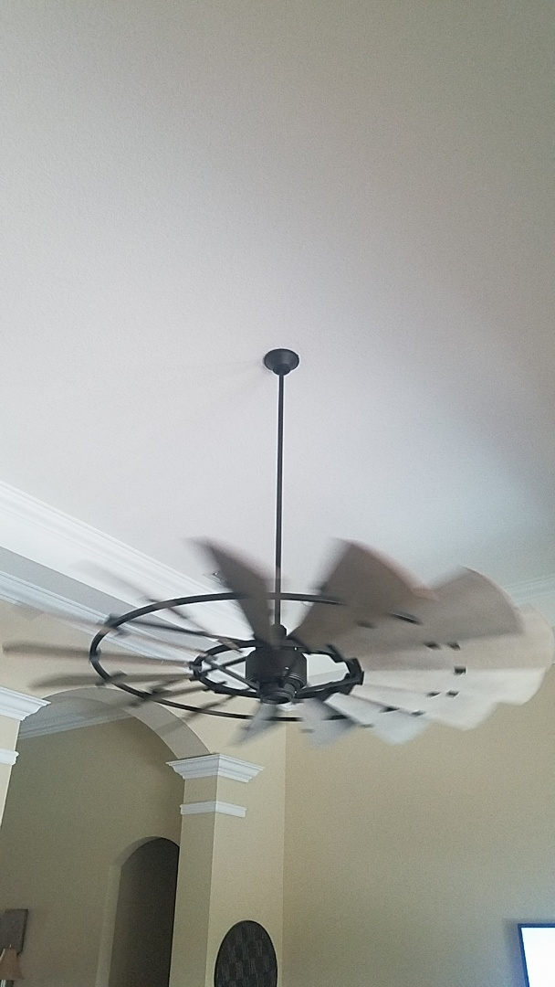 Installed specialty ceiling fan