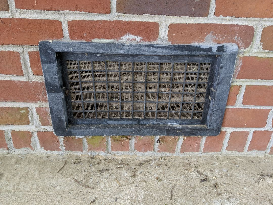 Pike Road, AL - Dirty clogged or closed off vents to your crawl space! This is the easier and cheapest way to help guard your home against moisture build up and possible fungal growth. Take a walk around your home. Make sure your vents are free from obstructions and OPEN!!!