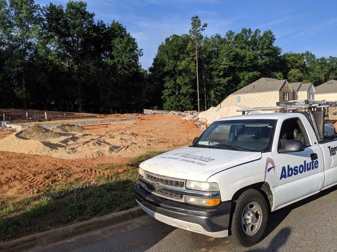 Wetumpka, AL - Soil pretretment for a good builder friend of mine Jeff Esco in Brookview subdivision.