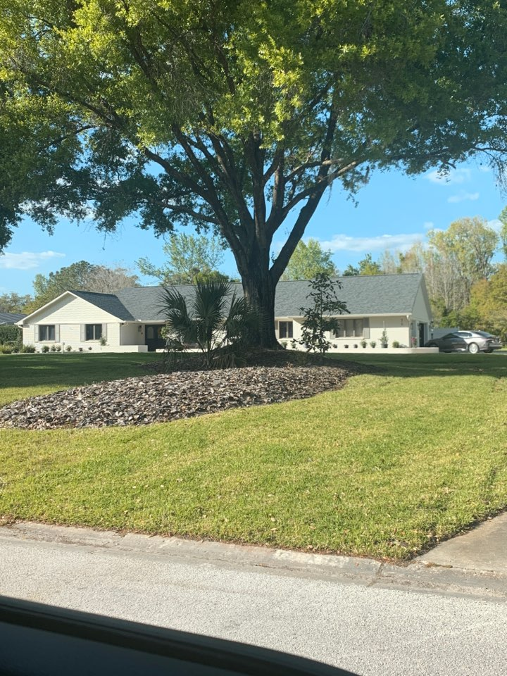 Brandon, FL - New roof install in the South Oak Subdivision. Customer chose the duration shingles by Owens Corning which includes the sure nail strip. This will give them peace of mind during hurricane season. The house looks good with estate grey shingles and black drip edge.