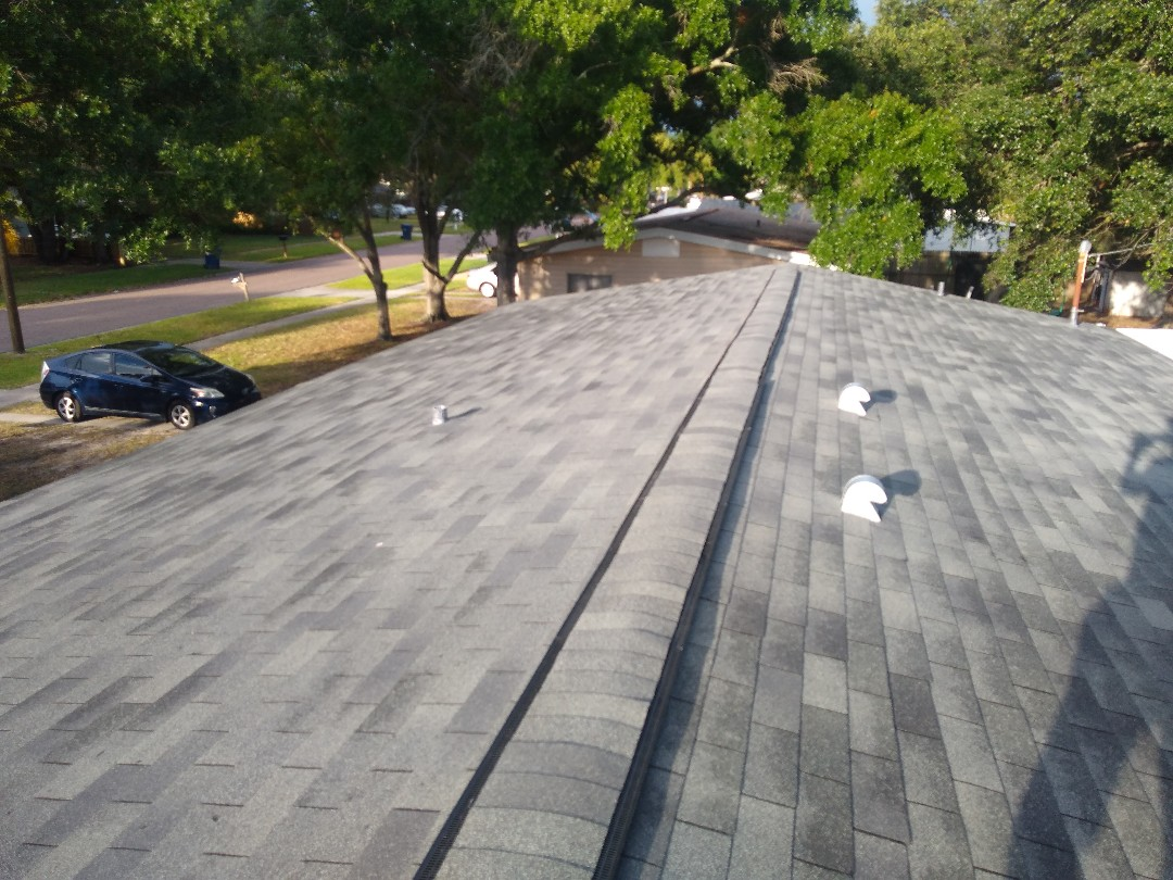 Tampa, FL - Doing a quality inspection on this recently installed Owens Corning Supreme 3 tab roof. It's a South Tampa gem!