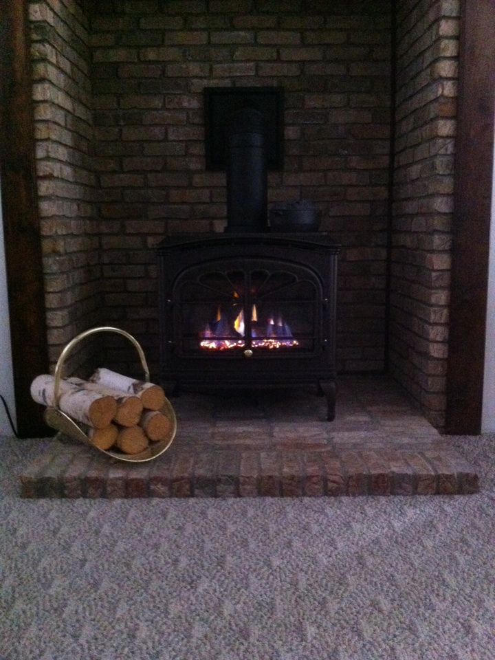 Installed a gas stove and a gas log