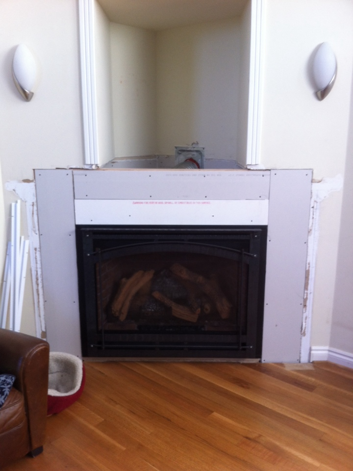 Clarkston, MI - Replaced the gas fireplace