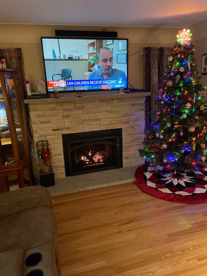 Burton, MI - Thank you to the Waltons! Beautiful HeatnGlo gas insert.