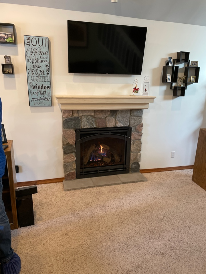 Finished a HeatnGlo 6000CLX with split face stone front. Thank you Roxanne and Tony, we appreciate your business!