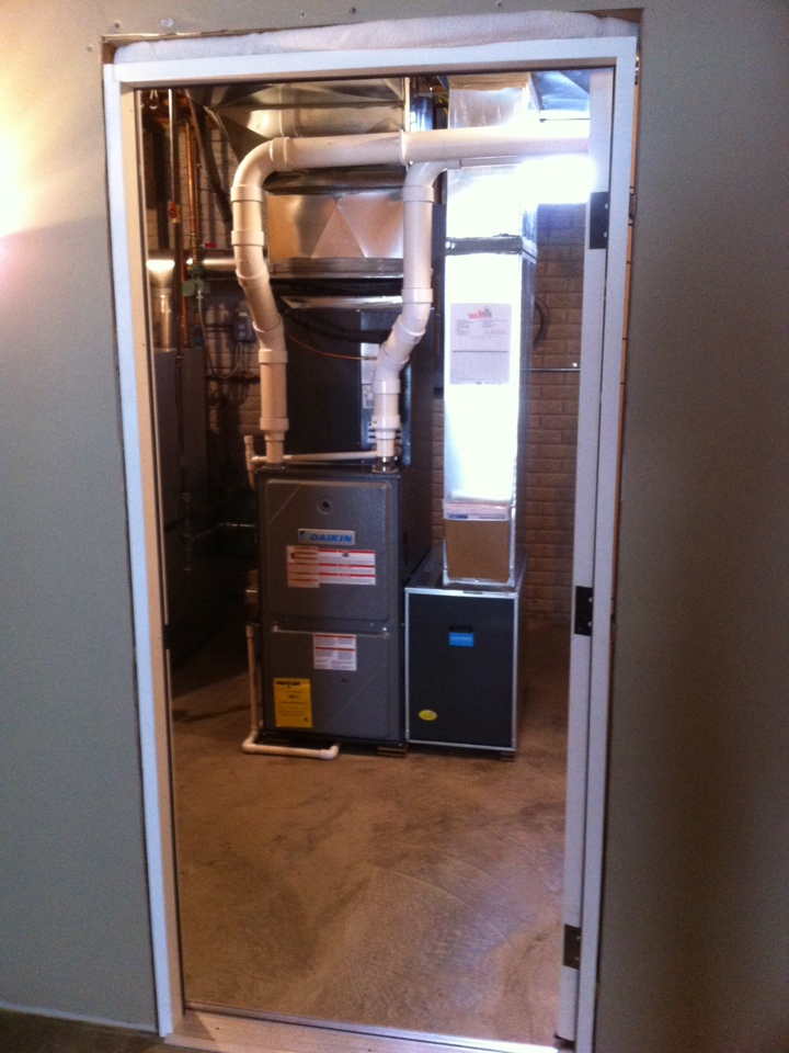 Installed furnace, ac and duct system