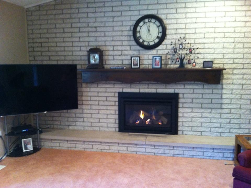 Davison, MI - Replacing gas fireplace insert