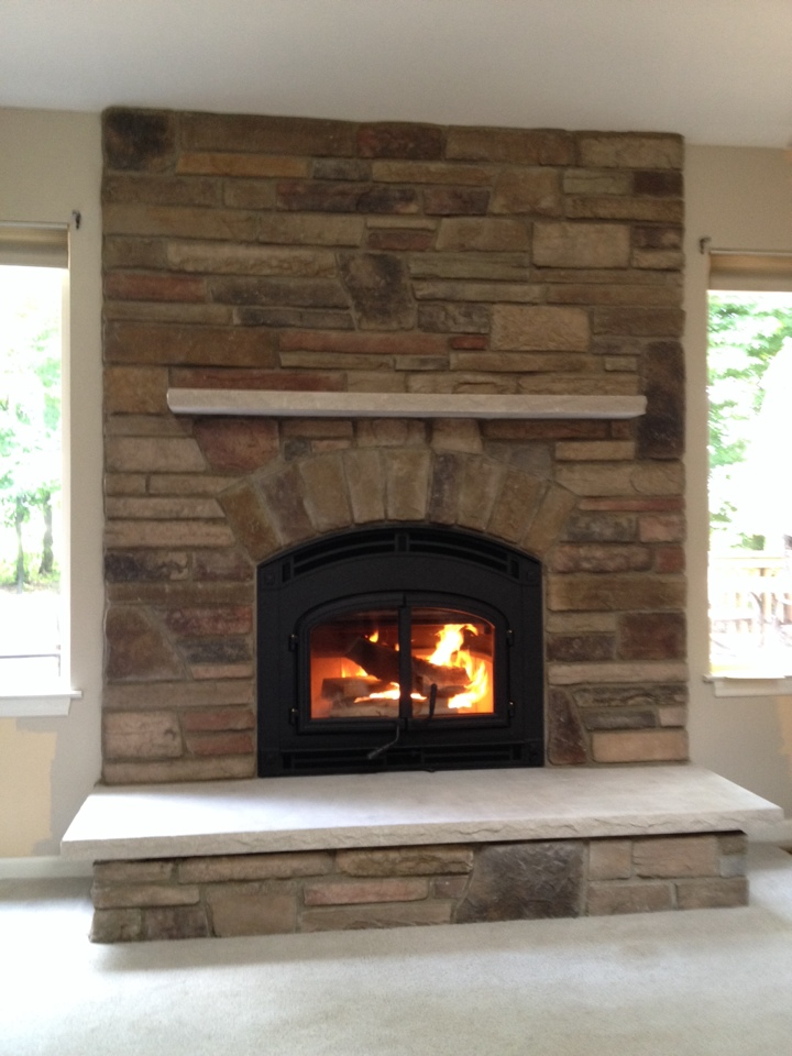Byron, MI - Finalizing fireplace installation