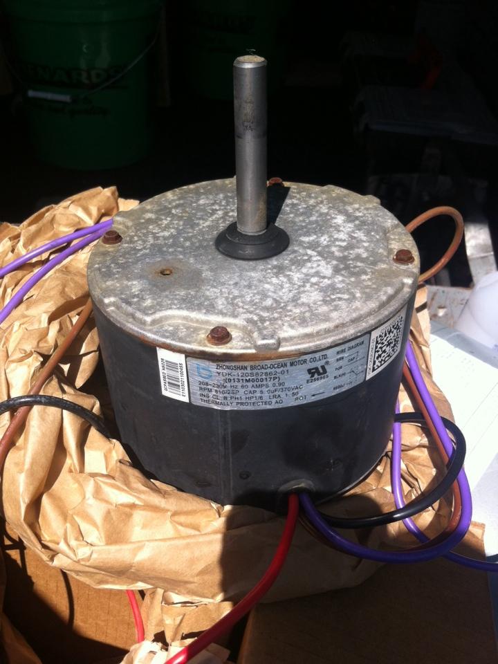 Goodrich, MI - Replaced a/c fan motor on 3 year old Amana in warranty