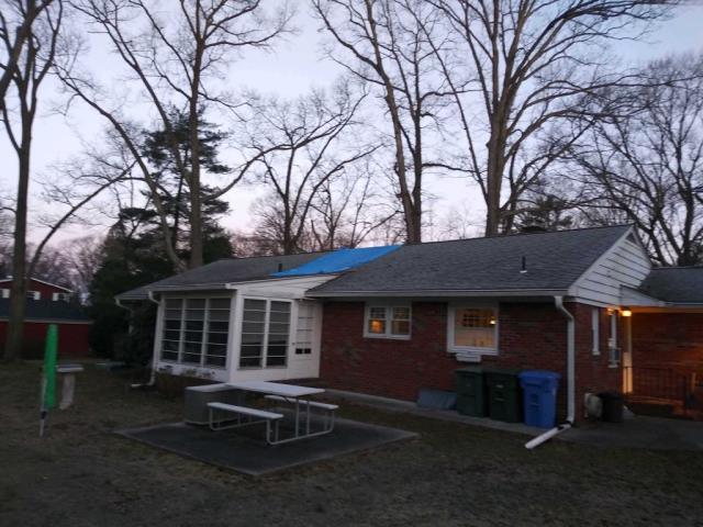 Pitman, NJ - A prior customer called with damage to the roof thanks to a tree branch.