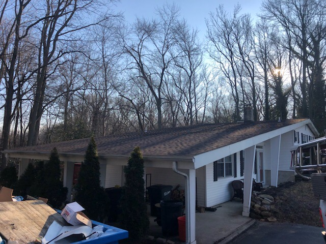 South Harrison Township, NJ - Complete new roof installation using GAF Timberline Hickory shingles.