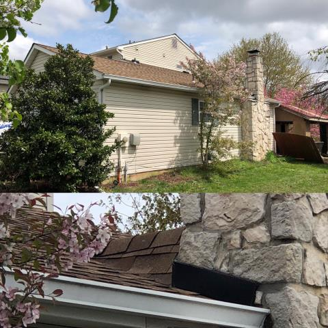 Sicklerville, NJ - New GAF Timberline Shakewood roof installation with new chimney cricket.