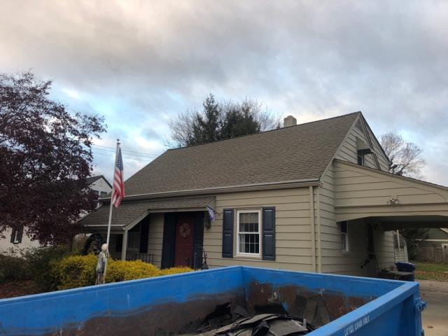 Glassboro, NJ - Complete new GAF Timberline Weathered Wood roof system installed.