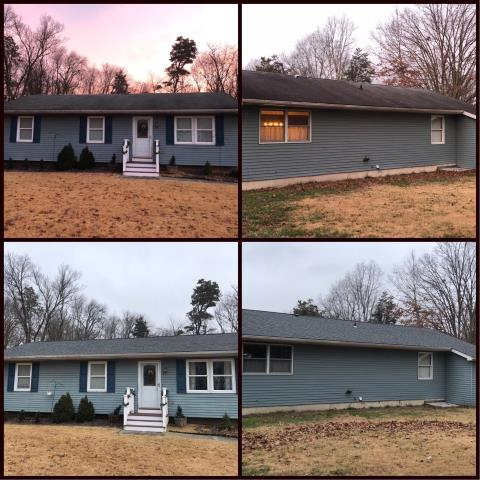 Clayton, NJ - Complete new GAF Timberline Pewter Gray roof system installed.