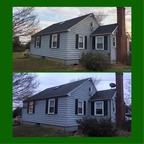 Mullica Hill, NJ - Complete new GAF Timberline Charcoal roof system installed.