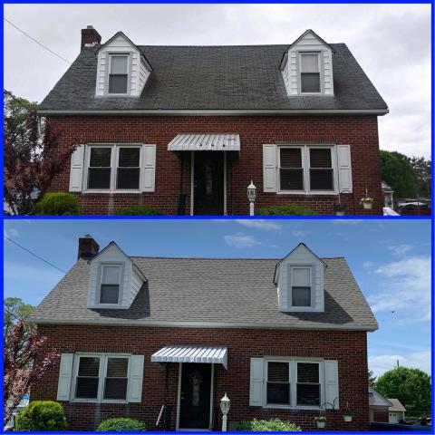 Greenwich Township, NJ - With the old roof in such bad shape, it was time for a new roof. This roof installation was completed using GAF Timberline Weathered Wood shingles.