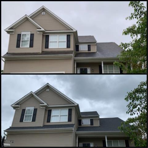 Deptford Township, NJ - Complete new GAF Timberline Charcoal roof was installed on this home.