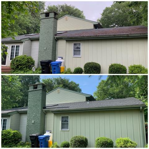 Mullica Hill, NJ - Partial roof installation using GAF Timberline Charcoal shingles.