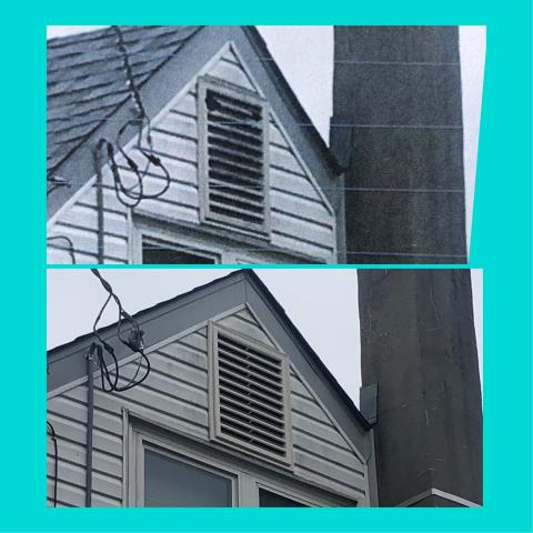 Sicklerville, NJ - Siding repair, new gable vent installed on this home.