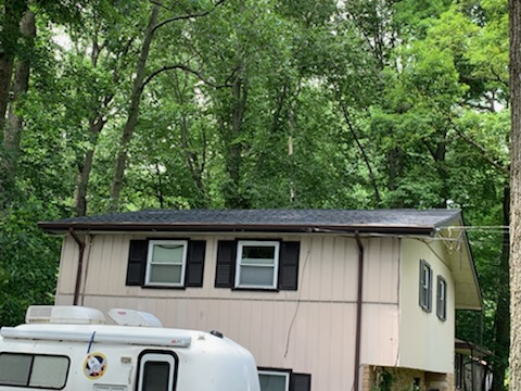 Deptford Township, NJ - Roof replacement using GAF Timberline Charcoal shingles.