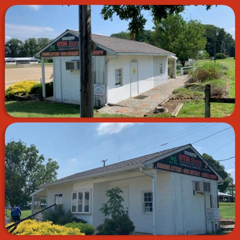 Mullica Hill, NJ - Helping the 4-H, roof replacement of the Announcer's Booth using GAF Timberline HD Mission Brown shingles.